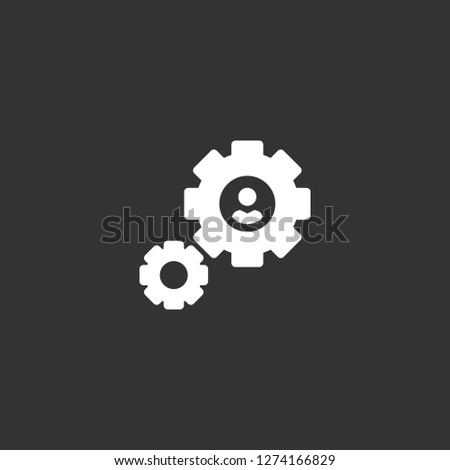 settings icon vector. settings vector graphic illustration