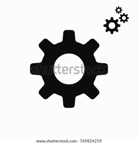 Settings icon with additional gears icon, vector illustration. Setting icon. Settings - stock vector