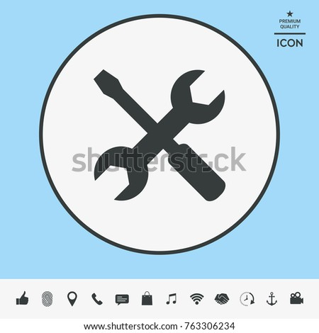 Settings icon - wrench and screwdriver