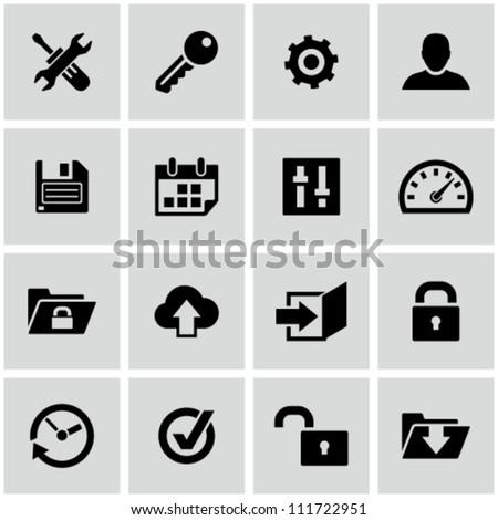 Settings icons set.