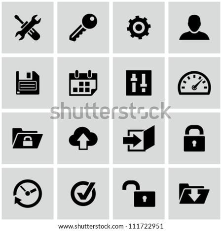 Settings icons set.