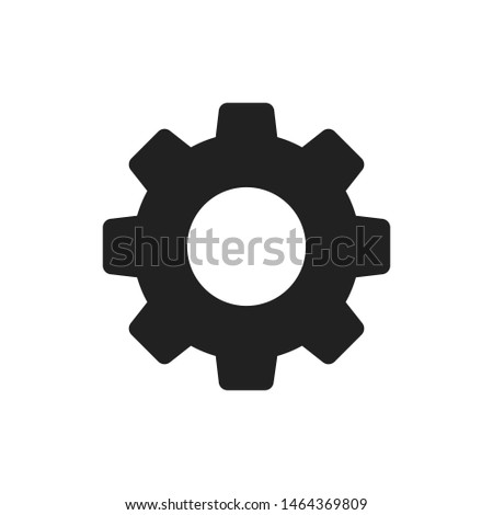 Settings isolated icon. Gear symbol. Gear tool or button for web application or UI. Trendy flat style. EPS 10