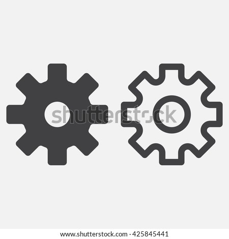 settings line icon, gear outline and solid vector logo, cogwheel linear pictogram isolated on white, pixel perfect illustration