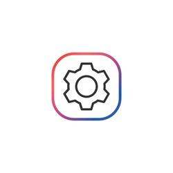 Settings  - Line Vector Icon