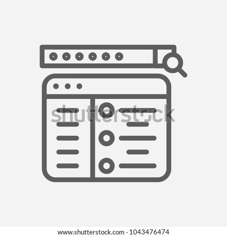 Setup campaign icon line symbol. Isolated vector illustration of  icon sign concept for your web site mobile app logo UI design.