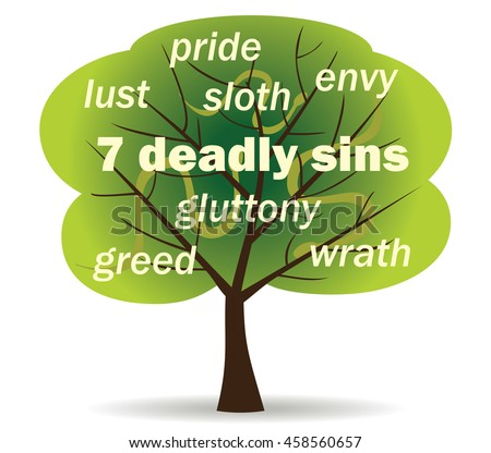 seven deadly sins word tree
