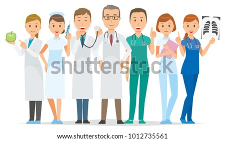Seven medical staff members
