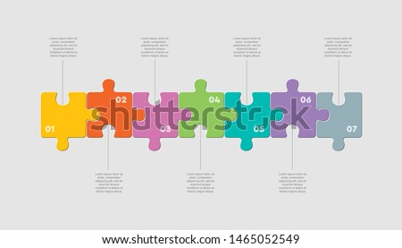 Info graphic puzzle design template - Download Free Vector Art