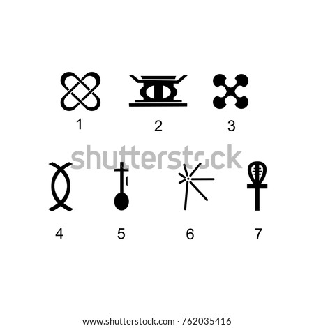 seven simple kwanzaa symbols that are easy to edit and use for your design, use this icon for your masterpiece