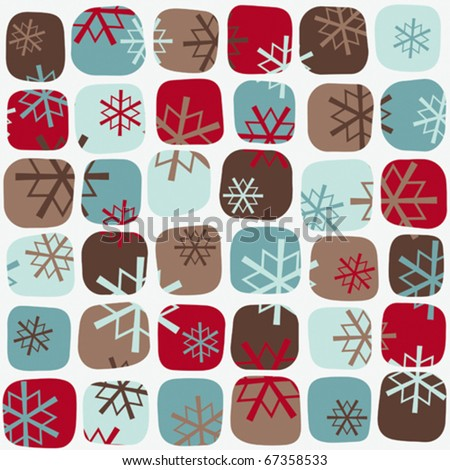 Seventies Christmas pattern