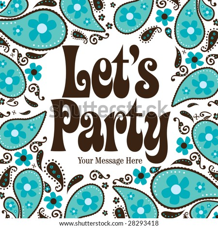 Seventies Style Party Invitation