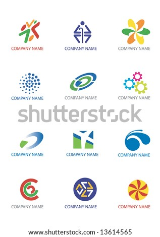 Several logos you can use as a company logo. Vector illustration.