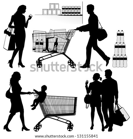 Several people. You can put each number of products in shopping trolley.
