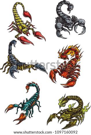 several scorpion vector