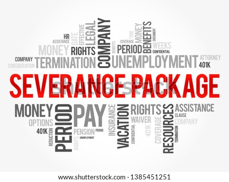severance package word cloud