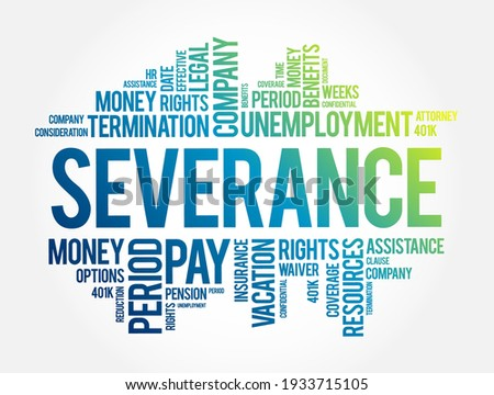 severance word cloud collage
