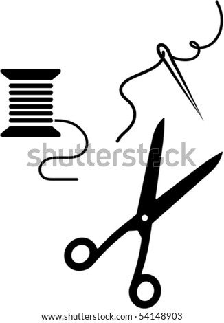 Sewing items - vector illustration
