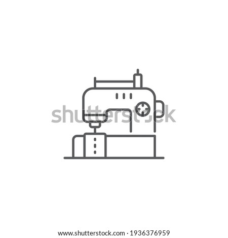 sewing machine line icon outline vector sign linear style pictogram isolated on white symbol Foto d'archivio ©
