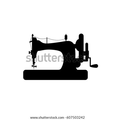 sewing machine vector icon....