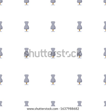 sewing mannequin icon pattern seamless isolated on white background. Editable flat sewing mannequin icon. sewing mannequin icon pattern for web and mobile.