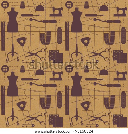 Sewing related seamless background 1