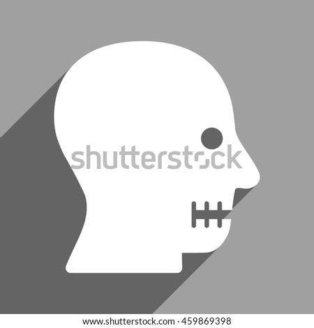sewn mouth long shadow vector