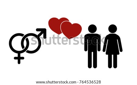 Sex icon.  Gender Signs. Male and female symbols. Man and Woman Icon