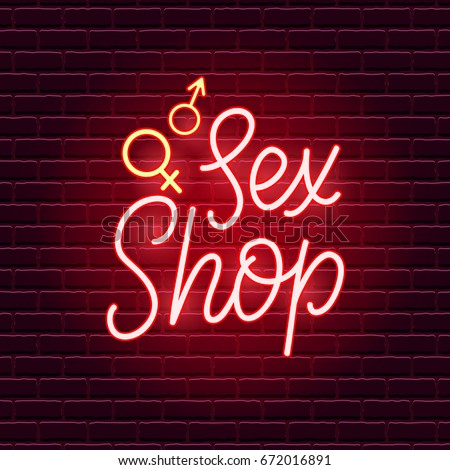 sex shop neon sign adults