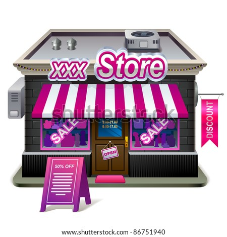 Sex shop. XXL icon