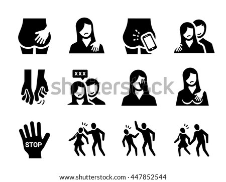 sexual harassment vector icon