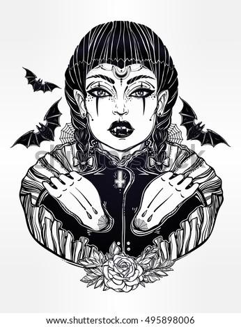 sexy beautiful vampire girl