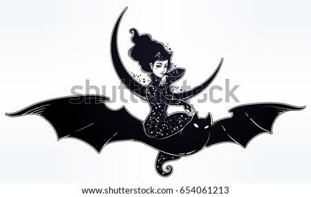 sexy beautiful witch girl