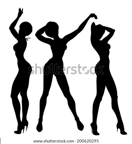 sexy dancer set  vector