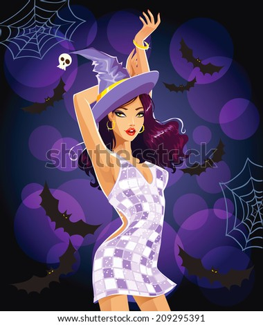 sexy dancing halloween witch