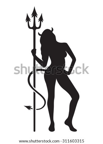 sexy devil girl vector