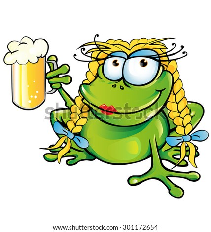 sexy girl frog  cartoon with