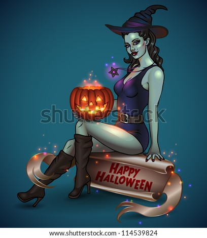 Free Halloween Pinup Images