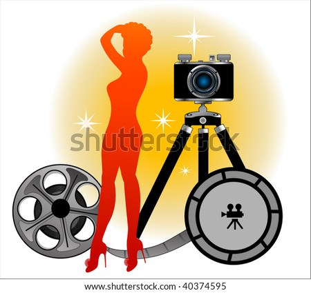 sexy pinup silhouette  with