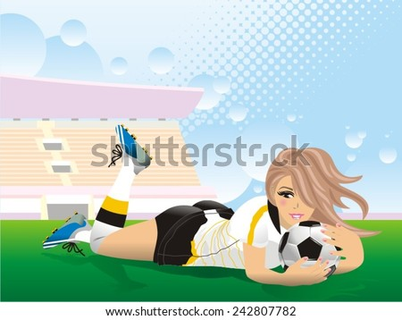 sexy soccer football girl a