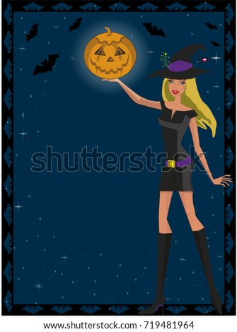 sexy witch illustration cute