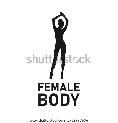 sexy woman or girl silhouette