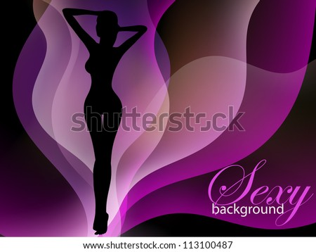 Sexy woman silhouette: fashion background