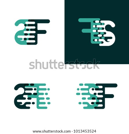 sf letters logo with accent
