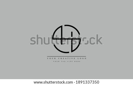 SH, HS, S, H abstract vector logo monogram template Stock fotó ©