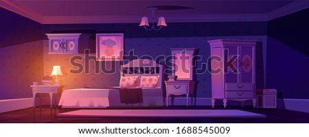 shabby chic bedroom interior