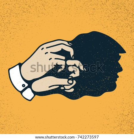 shadow hand puppet of donald
