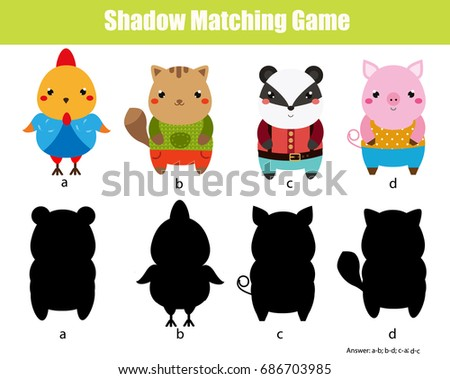 shadow matching game for