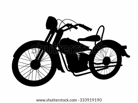 Old Vintage Motorcycle Metallic Color Cafe Racer Theme