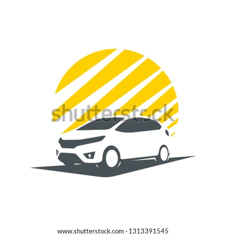 shadow of city cars, you can use for company logos, vehicle service, buying and selling vehicles.