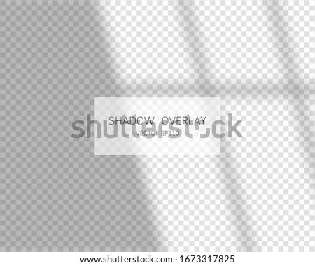 Shadow overlay effect. Soft shadow form window. Vector soft shadow and light overlay effect.